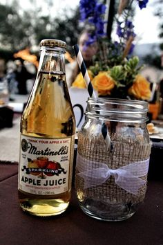 Thank you Martinelli's for making cute little  bottles!! The apple juice is just like the sparkling apple cider! We had so many compliments on having the cider instead of champagne!!