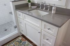 I've been so excited to reveal our new master bathroom to you. I have lots of photos, so here we go!   (I'll be mentioning what's what, bu...