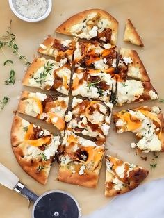 Sweet Potato and Caramelized Onion Pizza | http://foodiecrush.com