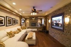 If not a basement guest room then a basement home theater! #TradingPhrasesContest - #possible den/theater