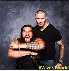 Randy Orton & Jason Momoa at Louisville Comic Con #Sexy #SoSexy #SuperSexy