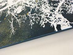 Side, Mistletoe, acrylic on canvas, 92 x 64 cm Acrylic Material, Nature Paintings, Mistletoe, Medium Art, Saatchi Art, Original Paintings, Canvas Art, Fine Art, Abstract