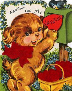 "♥ Vintage Valentine ~ ""Wancha For My Valentine!"""