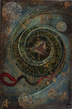 Grimoire, by Leigh McCloskey Sacred Geometry Esoteric Art, Psy Art, Arte Obscura, Occult Art, Alphonse Mucha, Visionary Art, Sacred Art, Sacred Geometry, Magick
