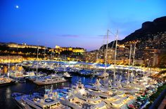 Monaco harbour - Stunning by night. One of our top three holiday destinations for Summer 2014!