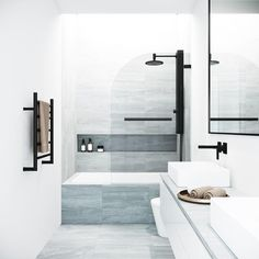 Bring modern luxury and a spacious, spa-like feel to your contemporary bathroom with the VIGO Fixed Glass Shower Screen. Modern bathroom Ideas and Design - Bathroom Inspiration - Bathroom Remodel