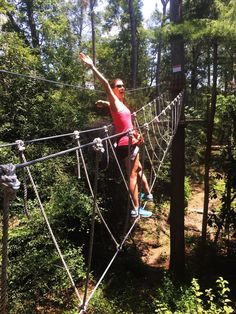 Participants of this course will take on hanging logs, rope bridges, swinging stairs, and two zip-lines.