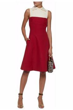 VALENTINO WOMAN KNEE LENGTH RED. #valentino #cloth #