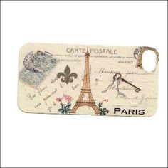 vintage paris postcard iphone 4 case iphone 4s by icasecouture, $16.00