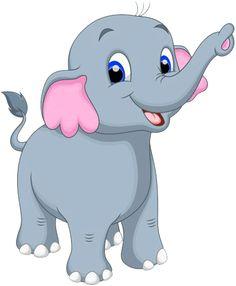 Illustration of Cute elephant cartoon vector art, clipart and stock vectors. Cute Elephant Cartoon, Elephant Face, Elephant Nursery, Baby Elephant, Cute Cartoon, Cartoon Elephant Drawing, Cartoon Drawings, Jungle Animals, Baby Animals