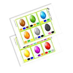 Clip Cards - Colors of the serie Easter. By Using, Triangle, Easter, Printables, Colors, Tatoo, Print Templates, Colour, Color