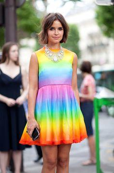 Miroslava Duma looking lovely in rainbow colours!