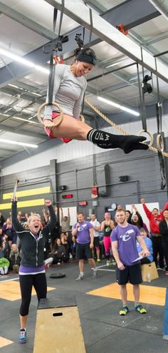 Look at everybody's face! This is why I crossfit!
