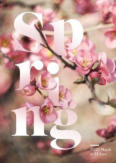 ☼ Seasons ☼ Spring ☼ audreylovesparis:S P R I N G  типографика typography spring весна