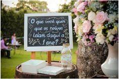 decoração de casamento placas recado