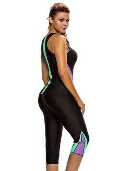 Her Trendy 2pcs Active Bathing Suit Seaside Wetsuit Swimwear – HisandHerFashion.com Black Tankini, Tankini Top, Wholesale Swimwear, Cropped Pants, Wetsuit, Bathing Suits, Capri Pants, Swimsuits, Seaside