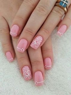 How to succeed in your manicure? - My Nails Cute Acrylic Nails, Cute Nails, Pretty Nails, Valentine's Day Nail Designs, Acrylic Nail Designs, Nails Design, Salon Design, Beautiful Nail Designs, Beautiful Nail Art
