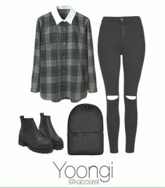 kpop fashion A fashion look from May 2017 by kapparel featuring Carven, Topshop and Rains Kpop Fashion Outfits, Korean Outfits, Teen Fashion, Korean Fashion, Teenager Outfits, Outfits For Teens, New Outfits, Girl Outfits, Spring Outfits