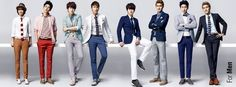 Super junior and more of their photos from SPAO Kpop Fashion, Love Fashion, Girl Fashion, Super Junior, Kpop Girls, Gentleman, Take That, Lady, Pants