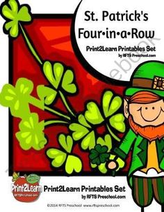 St. Patrick�s Four in a Row Common Core Connection from RFTSPreschool on TeachersNotebook.com -  (17 pages)  - St. Patrick�s Four in a Row 17 Pages We can help children develop early numeracy skills when offering activities that support classification, one to one matching, number recognition and counting skills. When we do one to one matching activities with young