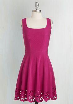 Eyelet Getaway Dress in Fuchsia | Mod Retro Vintage Dresses | ModCloth.com