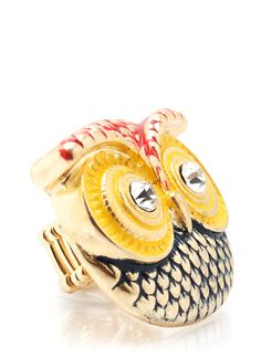 textured owl face ring $9.20