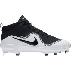 Nike Men's Force Air Trout 4 Pro Metal Baseball Cleats, Black