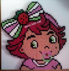 DECO.KDO.NAT: Perles hama: charlotte aux fraises bébé portrait