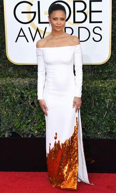 Golden Globes 2017 Best Dresses: Thandie Newton in Monse