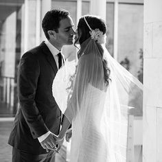 Lauren Kassan wore our Stone Fox Bride detachable silk-tulle veil adorned with silk flowers and hand-sewn sapphires. www.stonefoxbride.com