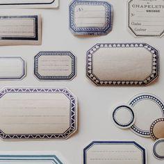 #文房具 #stationery  青いラベル色々、