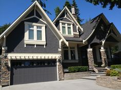 Exterior colour transformation.  Complimentary colours to re-energize the exterior of this home in South Surrey.