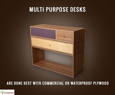 If you are planning g to build a multi purpose desk that will help for storage and add beauty to your interior design you can go with any commercial or waterproof plywood of your choice.    #plyduniya #bangalore #interior - http://ift.tt/1HQJd81