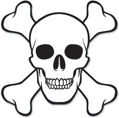 "pirate skull & crossbones cutout - 16"" Case of 12                                                                                                                                                                                 More"
