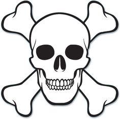 "pirate skull & crossbones cutout - 16"" Case of 12                                                                                                                                                                                 More"