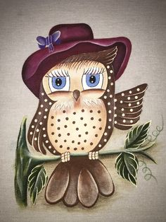 Open Fishbone Stitch In Hand Embroidery (Step By Step & Video - - Tole Painting, Fabric Painting, Owl Artwork, Bird Template, Owl Wallpaper, Owl Clip Art, Dream Catcher Native American, Owl Crafts, Owl Patterns