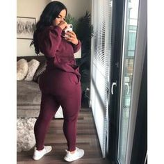Sexy, Casual Cotton Joggers by Live Fabulously Thick Girls Outfits, Curvy Girl Outfits, Sporty Outfits, Curvy Women Fashion, Teen Fashion Outfits, Swag Outfits, Cute Casual Outfits, Thick Girl Fashion, Model Outfits
