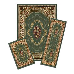 Achim Home Furnishings Capri 3-Piece Rug Set, Rose Garden ** More info could be found at the image url. (This is an affiliate link) #AreaRugsRunnersandPads