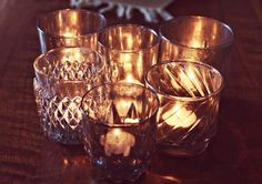 #DIY Aged Mercury Glass Candle Holders  #crafts