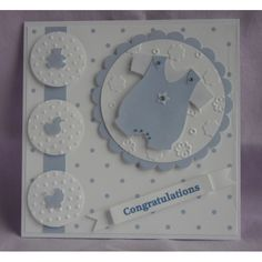 Baby Boy Cards Handmade, Baby Girl Cards, Greeting Cards Handmade, Baby Congratulations Card, Spellbinders Cards, Kids Birthday Cards, Cricut Cards, Baby Shower Cards, Card Making Inspiration