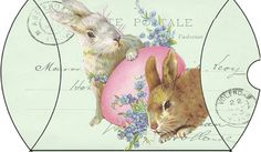 Wild@heart: Friday freebie - easter bunnies green pillow box......other printable pillow box designs on website.