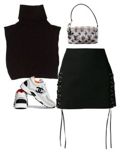 A fashion look from March 2018 featuring cut-out crop tops, lace up mini skirt and louis vuitton pouch. Browse and shop related looks. Kpop Fashion Outfits, Stage Outfits, Mode Outfits, Retro Outfits, Cute Casual Outfits, Stylish Outfits, School Outfits, Fashion Dresses, Look Fashion