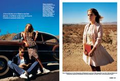 On the Road – Free spirited vintage inspired style takes the driver's seat in this editorial homage to Jack