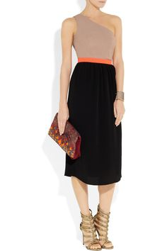 Camilla and Marc | Howling one-shoulder crepe and georgette dress | NET-A-PORTER.COM