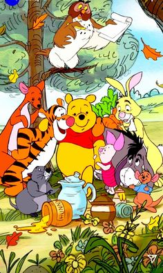 Whinnie The Pooh Drawings, Winne The Pooh, Winnie The Pooh Friends, Disney Winnie The Pooh, Disney Love, Disney Art, Disney Images, Disney Pictures, Bear Wallpaper