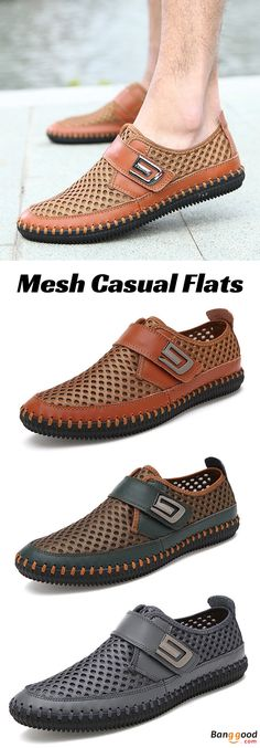 US$34.90 + Free shipping. Men Shoes, Casual Style Shoes, Hand Stitching Shoes, Breathable Shoes, Mesh Flats. Color: Brown, Grey, Green. Let Your Feet Have a Taste of Summer Breeze.
