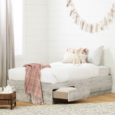 South Shore Aviron Twin Mate's & Captain's Bed with Drawers Bed Frame Color: Seaside Pine Style Nautique, Twin Storage Bed, Nautical Bedroom, Bedroom Decor, Teen Bedroom, Bedroom Ideas, Master Bedroom, Bedrooms, Captains Bed