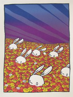 Rabbits in Flowers by Jay Ryan (SOLD OUT) - Sold Out - Gallery