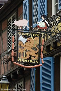 Colmar Charcouterie Shop #sign #Alsace #France