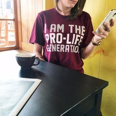 I Am Pro-Life Generation shirt from Students for Life of America